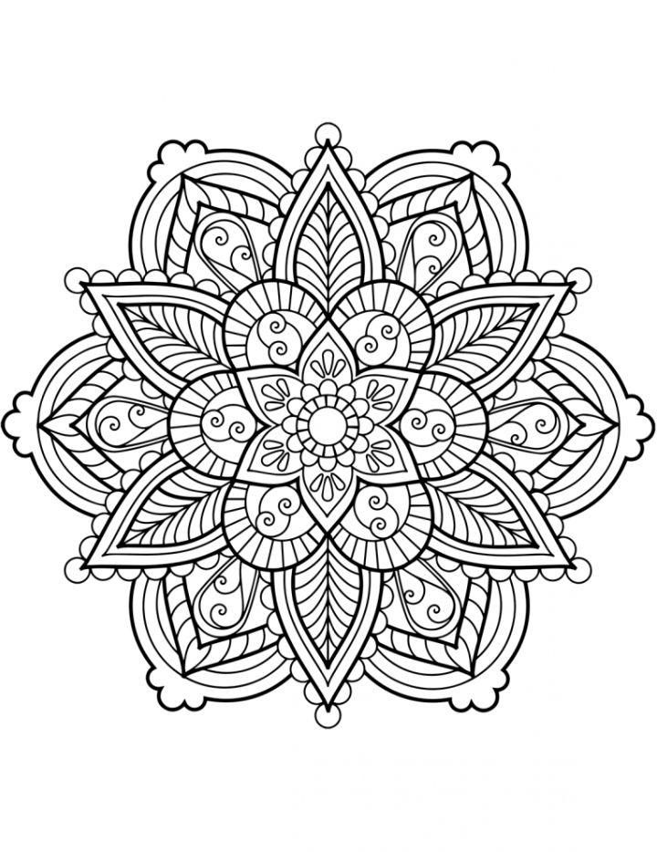mandalas ausmalen  boyama  malvorlagen blumen mandala