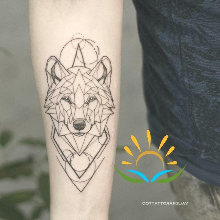 Geometric Wolf On Hand Animal Tattoo Wolf Tattoos Geometric Wolf Tattoo Geometric Wolf