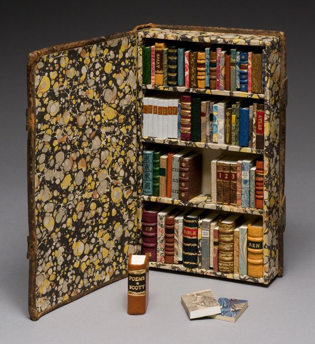 """Little Library"" (2009), by Todd Pattison. Photo from the Guild of Bookworkers."