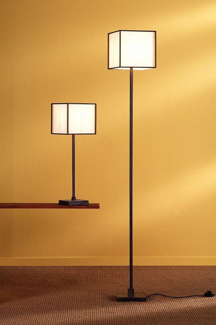 Fuji f3072 lampara de pie lampara de forja con pantalla de tela beis 1x e27 (170307206) - Berti Lighting / https://iLamparas.com / lamps lamparas deco