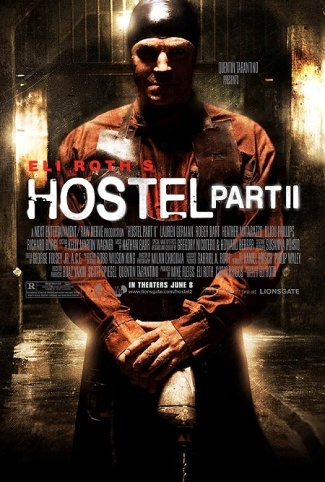 Now watching on The Movie Channel: Hostel Part 2. Not a bad sequel as far as they go.