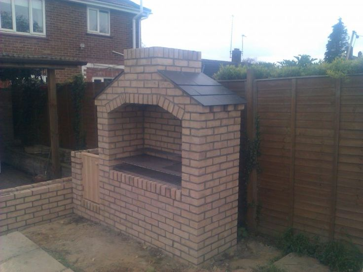 10 best images about bbq on pinterest herringbone stacking blocks and design - Building an outdoor brick barbecue ...
