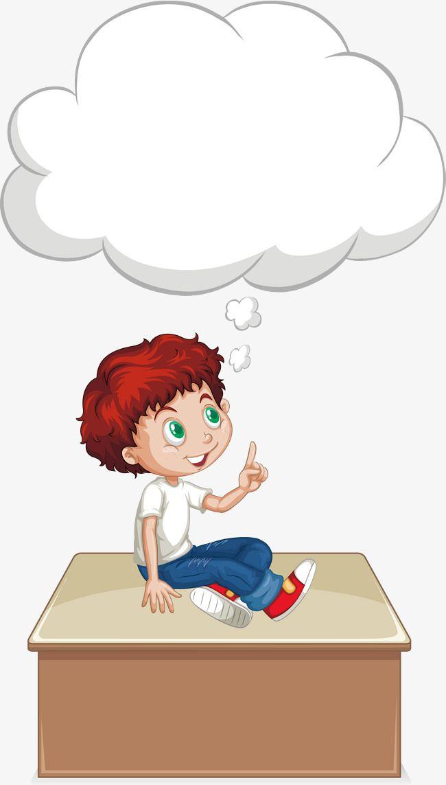 ناقلات يجلس على طاولة التفكير بوي الولد ناقل الصور مجانا تحميل حرف ولد Png وملف Psd للتحميل مجانا Kids Art Class Teacher Cartoon Kids Background