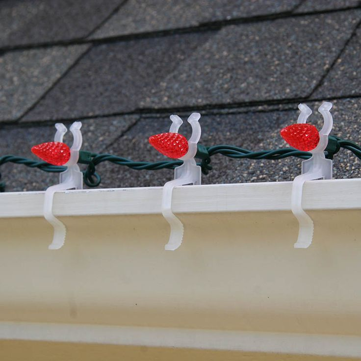 hang lights horizontally with led all in one clips