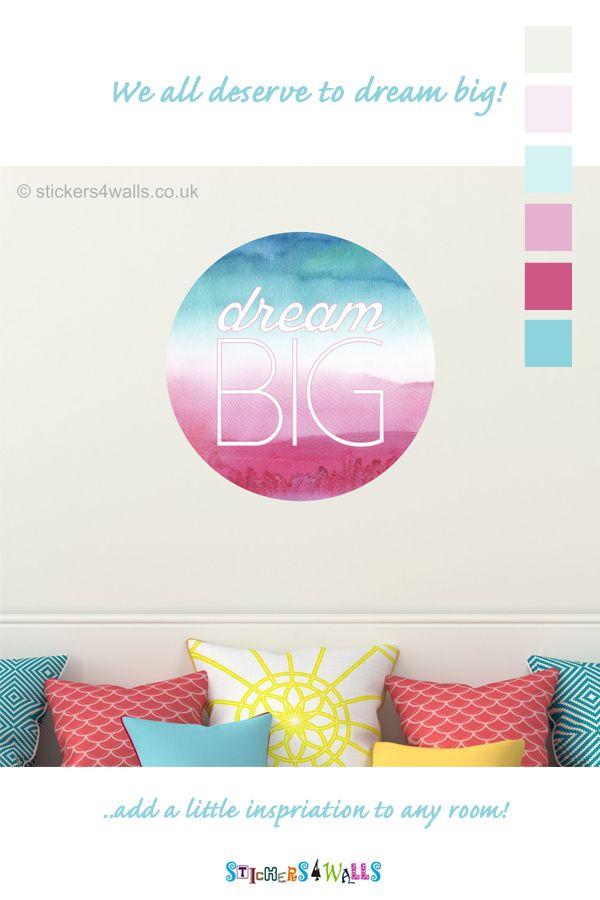Reusable Dream Big Wall Sticker Inspirational Quote Wall Art Decal Big Wall Stickers Wall Decor Bedroom Inspirational Quotes Wall Art