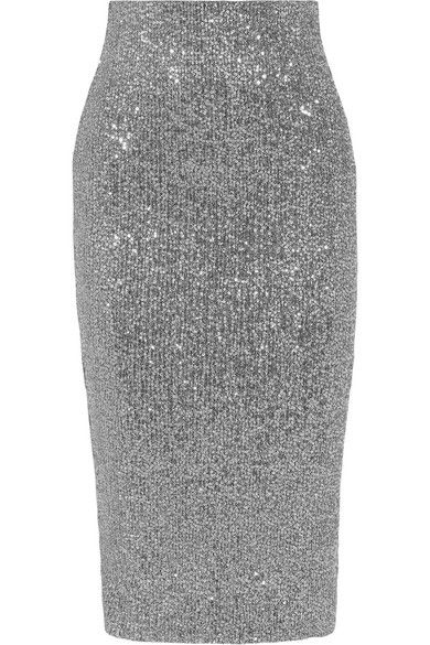 262c2d95 Rebecca Vallance - Andree Sequined Tulle Midi Skirt - Silver in 2019 ...