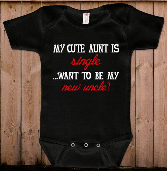 Funny baby clothes baby gift My cute aunt is by teesandmoretees