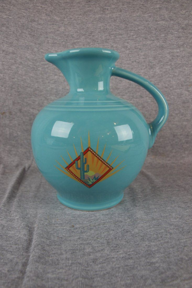 Turquoise Fiesta® Phoenix Carafe made exclusively for the 2004 HLCCA Phoenix Conference by Homer Laughlin China Company | Strawser Auction