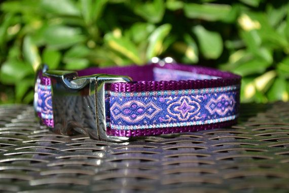 Hey, I found this really awesome Etsy listing at https://www.etsy.com/listing/223949173/pink-blue-and-purple-dog-collar-with