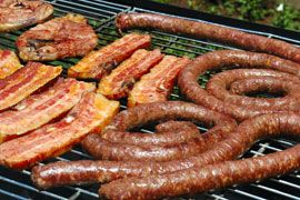 A braai is a big part of South African culture (there's even a designated holiday for them!). A braai is a get together of friends, family, and neighbors to enjoy some South African barbecue. Meat, like boerewors, would be cooked with South African spice blends, and served in large quantities.