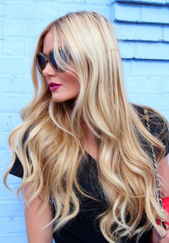 Long hair blonde loose curls.  Like my pins, follow my boards!  Love Sunday x