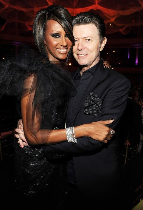 Iman and David Bowie at Hammerstein Ballroom during Keep A Child Alive's 6th Annual Black Ball hosted by Alicia Keys and Padma Lakshmi on Oct. 15, 2009, in New York City.