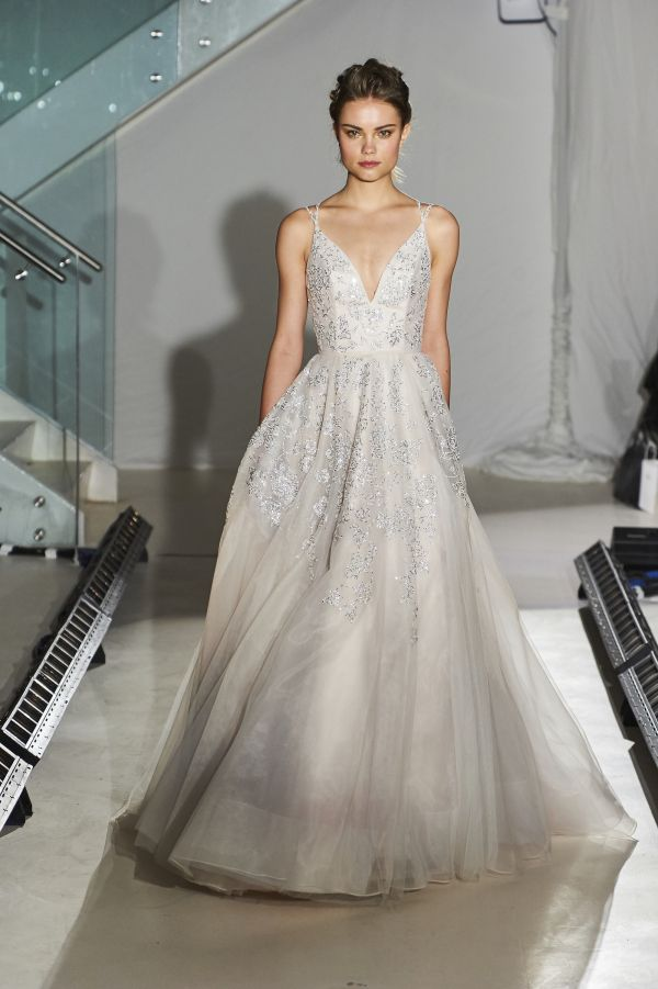 Hayley Paige bridal collection spring 2017: http://www.stylemepretty.com/2016/04/18/hayley-paige-bridal-week-spring-2017/