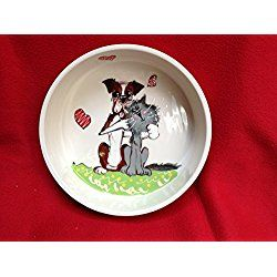 "Dog Bowl, 10"" Boxer Dog Bowl for Food or Water. Personalized at no Charge. Signed by Artist, Debby Carman."