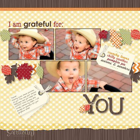 Jeanna Bohanon // 2012 Stampin' Up! Artisan Design Team October project - Wonderfall scrapbook page