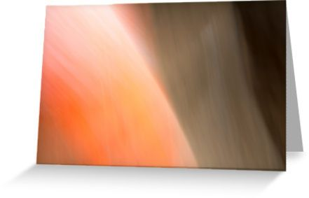 Brightness Orange Abstract Greeting Cards by Galerie 503