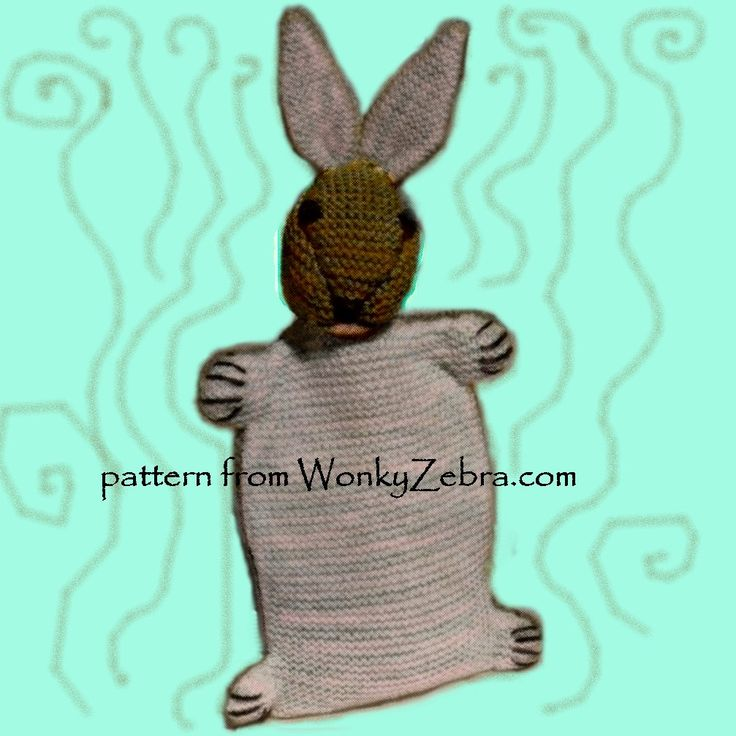 A Vintage Emu pattern for a knitted hot water bottle cover- made as a darling little rabbit to cuddle. A nice alternative to a chocolate Easter gift..but you could hide one in it! WZ339