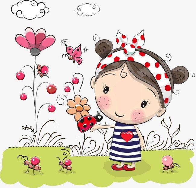 Blumen Kleines Mädchen , Die Blumen, Schöne Mädchen, Comic Mädchen PNG Bild und Clipart zum kostenlosen Download