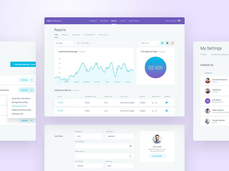 CC Dashboard - Reports by Balkan Brothers #Design Popular #Dribbble #shots