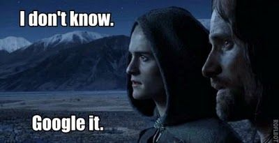 Lord of the Rings and Google