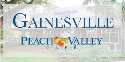 Peach Valley Cafe - Gainesville FL Jim Rated:  5 Steak & Eggs Hand-cut 7-oz. NY strip, seasoned and grilled with two fresh eggs cooked to order. Served with our breakfast potatoes or grits and your choice of buttermilk drop biscuit, English muffin or toast.  Sheila Rated:  4 Vegetable & Egg Croissant Benedict Flaky croissant, grilled tomato, asparagus, grilled red onions, poached eggs and fresh hollandaise sauce. Served with our breakfast potatoes.  9.69.  Whatthehealth.com Grade:  C (74) on…