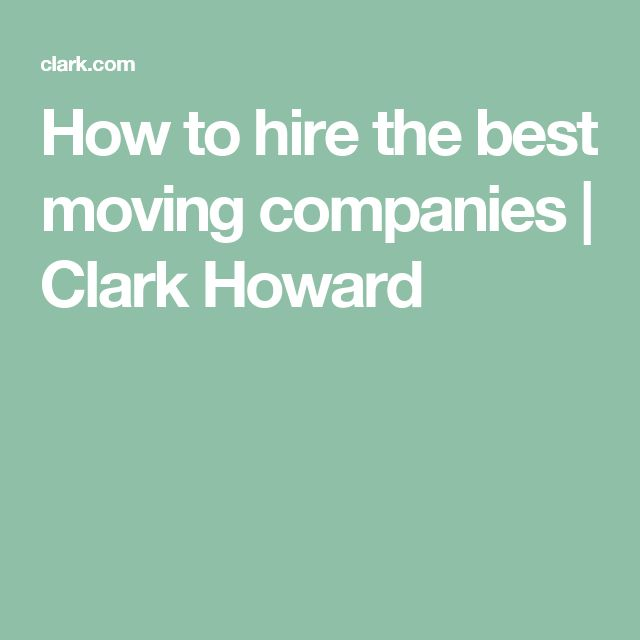 How to hire the best moving companies | Clark Howard