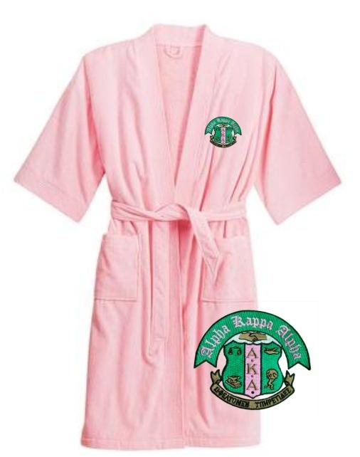 AKA pink terry velour bathrobe