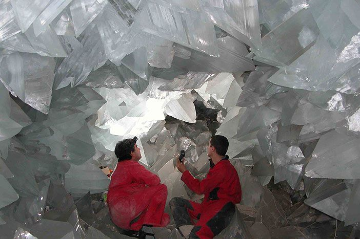 The cave of giant crystals, Naica Mine, Mexico