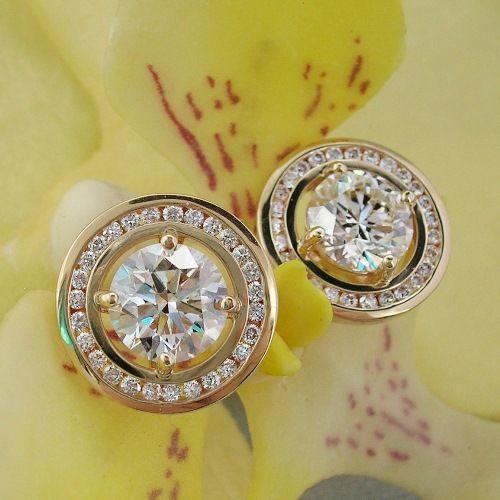 Diamond Stud Earrings White Gold For Men Women Pearl Hoop 1 Carat Affordable Princ