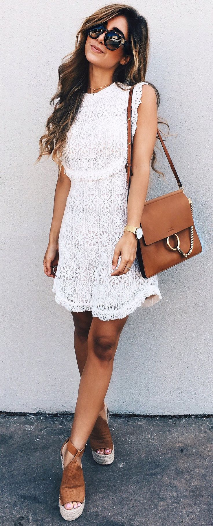 #spring #outfits  Keeping Things Simple In A Little Lace Dress... ❤️ So Cute For Easter // Beautiful Days Like Today ☀️