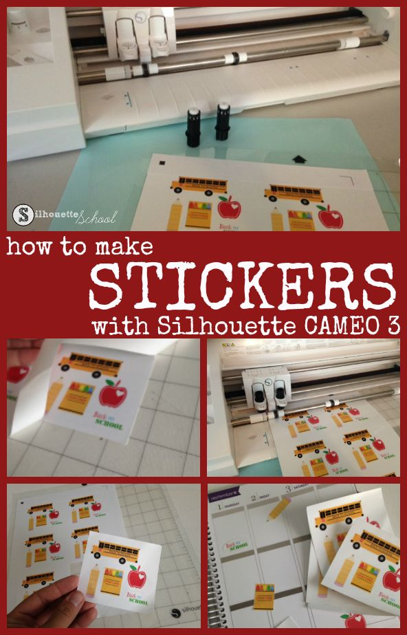 Silhouette CAMEO 3 Dual Carriage for Easiest DIY Stickers Ever!