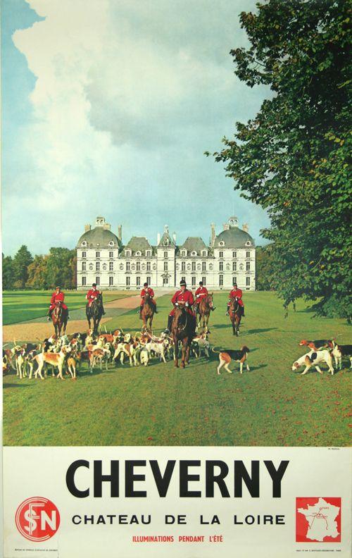 Cheverny, château de la loire - 1950 - photo de Fronval -