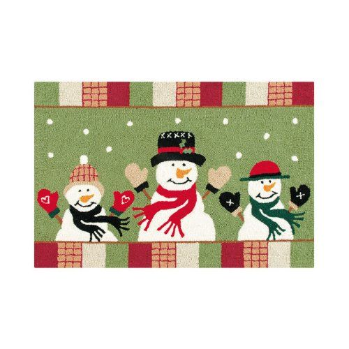 Snowplace Like Home Snowman Hooked Rug 2