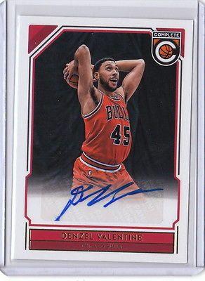 16/17 2016/17 Complete Basketball Autograph Auto Denzel Valentine #9 Bulls