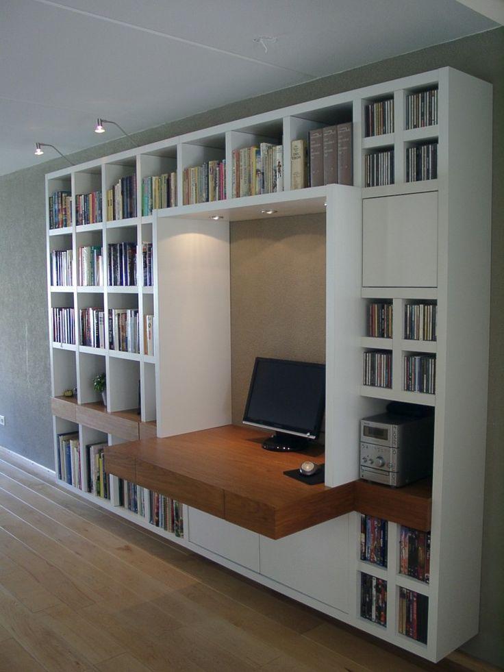 boekenkast op maat met bureau - Google zoeken