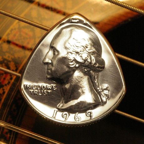 Quarter Guitar Pick. Did you know that Billy Gibbons of ZZ Top uses a quarter on most of his playing?