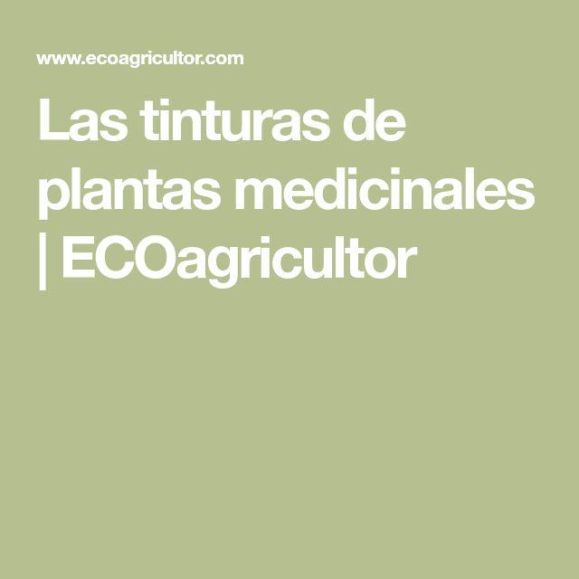 Las tinturas de plantas medicinales | ECOagricultor