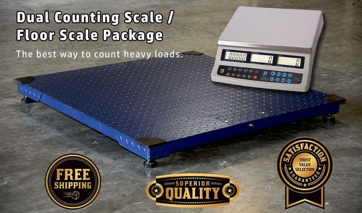 10,000x1lb 48x48  Floor/pallet Scale with PS-C60KDN Dual Counting Scale Package #PrimeScales