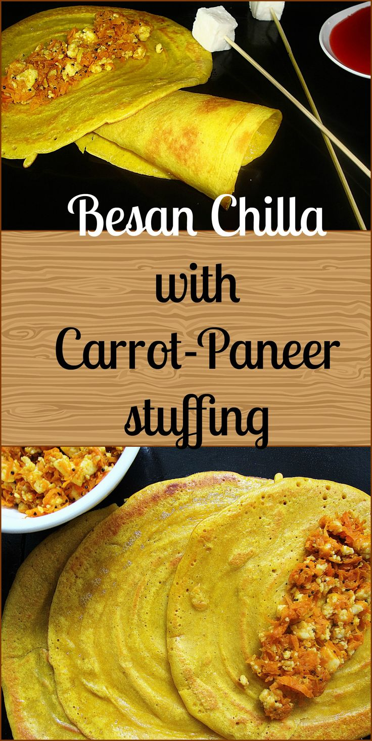 All time favourite chillas/cheelas fiiled with healthy carrot paneer stuffing...