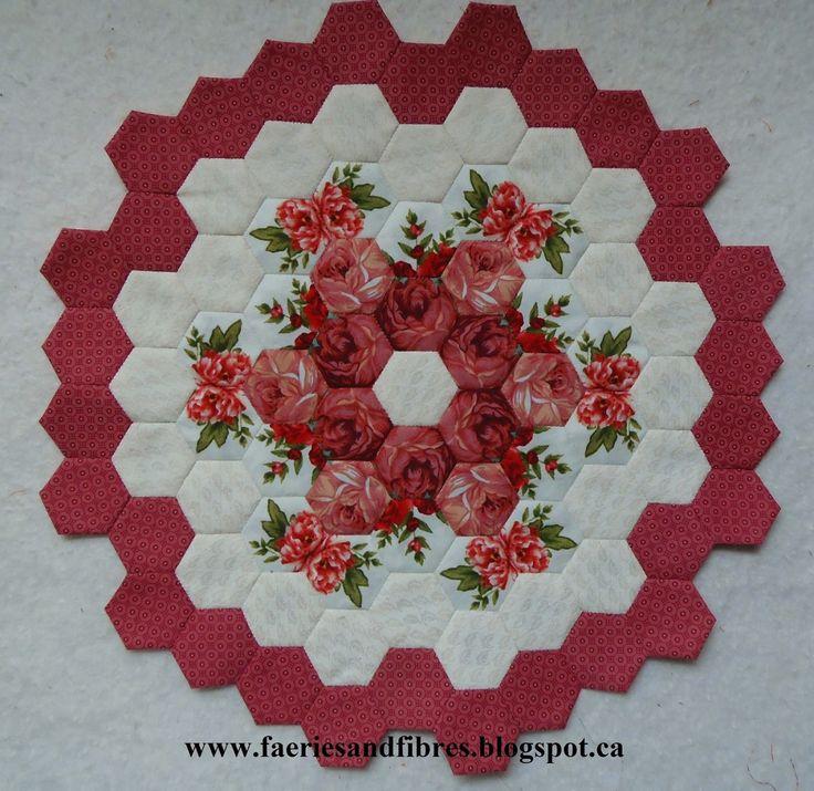 Just a little progress on my hexagon quilt Lozagons