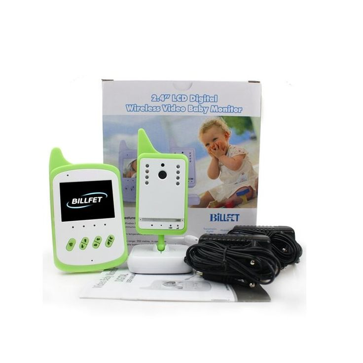 (56.38$)  Know more - http://ai2ql.worlditems.win/all/product.php?id=32799155950 - Radio Babysitter video nanny 2.4 inch LCD IR Night vision Lullabies 2 way talk Temperature monitor VOX system video babysitter