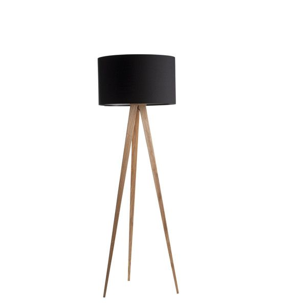 Lampă  de masă Tripod, natur/negru