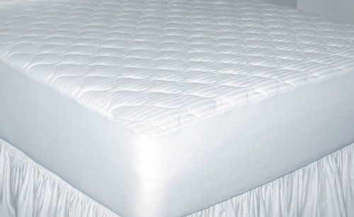 Newpoint Home Deluxe 250-Thread-Count Cotton Damask Stripe Queen Mattress Pad
