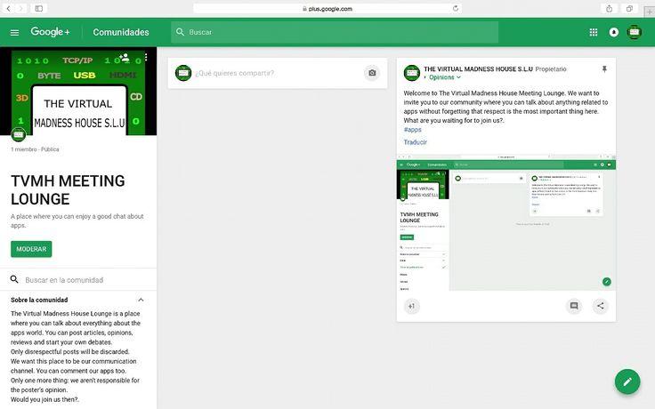 ¡Ya tenemos una comunidad en Google+!. ¡Te estamos esperando!. We have a community in Google+. We are waiting for you!. #apps