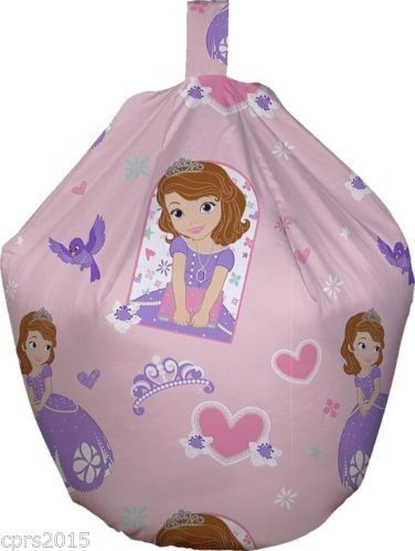 Character World Childrens Bean Bag Kids Girls Boys Chair Seat Cover Only Large Sofia
