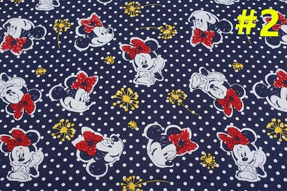 "Description  3 Patterns Minnie Mouse Printed 100% Cotton Poplin Fabric  Material:Cotton  Shrinkage: 5%     Measurements  Each listing is for 1 meter only,approx 1.1 yard,39"" long x 55"" wide ( 100cm long x 140cm wide)  The fabric is sold in a continuous length when possible. We will"
