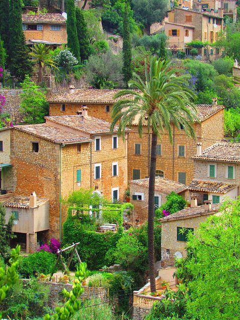 The charming village of Deià in Mallorca Island, Spain