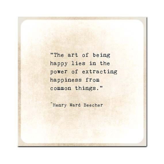 Happiness Quote Henry Ward Beecher Gold by ShadetreePhotography, $8.00
