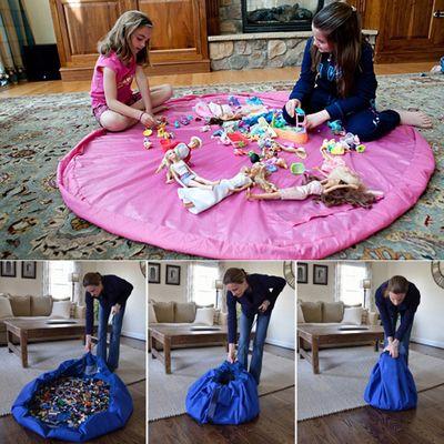Nouveau Portable enfants enfants jouets de stockage Orangizer sac pour pique - nique familial voiture propre Lego bébé plage tapis de jeu recouvrent 100 cm