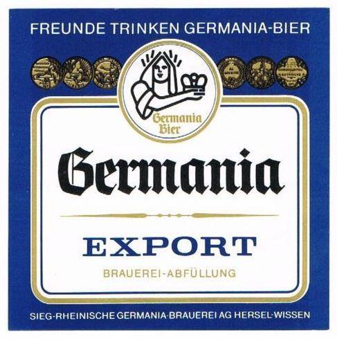 Germania Export - ein untergäriges Bier mit leichtem  Malzgeschmack und schwächer gehopft als Pilsener Biere - mit 5 bis 5,5 % Alkohol.